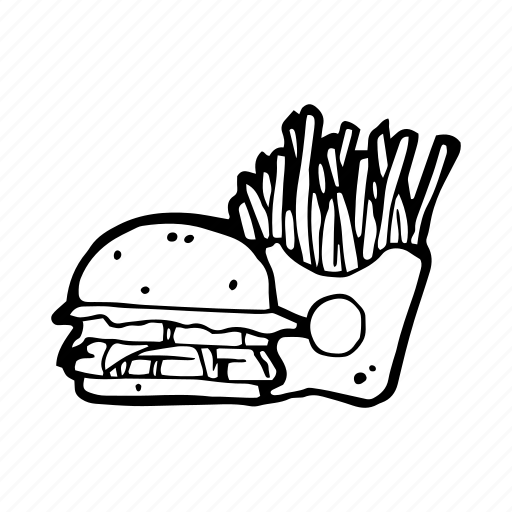 Burger, fast food, fastfood, french, fries, kitchen