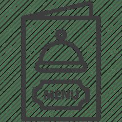menu icon cuisine card editor open