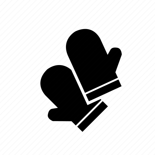 kitchen mittens compost container cooking gloves icon