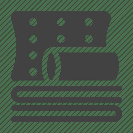 bedding bedroom blanket pillow sleep icon download on iconfinder