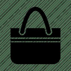 handbag icon bag shopping accessory icons editor open