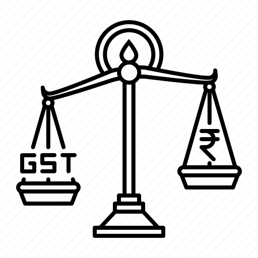 Amount, balance, equality, gst, rate, scale, tax icon