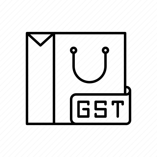 Goods, gst, india, service, shopping, tax icon