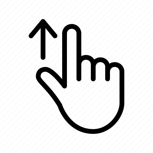 Gesture, hand, scroll, swipe, swipe up, touch icon