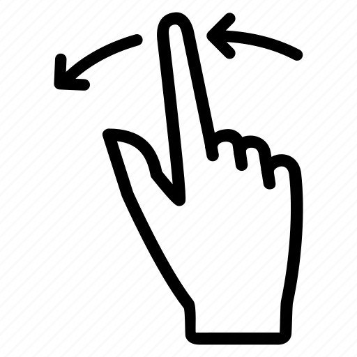 Finger, left, motion, rotate, scroll, swipe, touch icon
