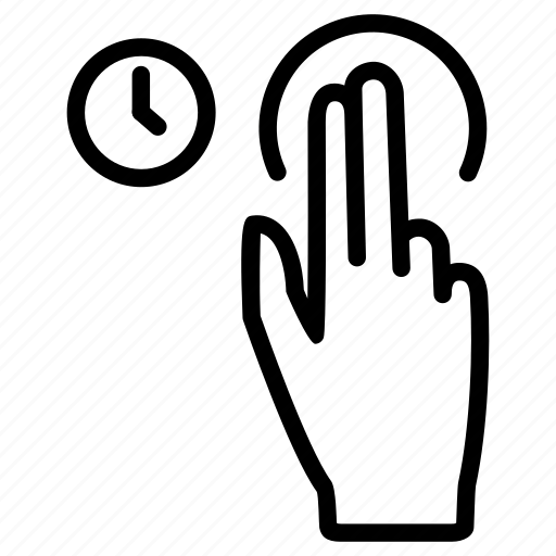 Fingers, gesture, hand, hold, touch, two icon