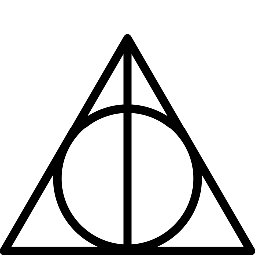 Deathly, hallows, harry, outline, potter icon