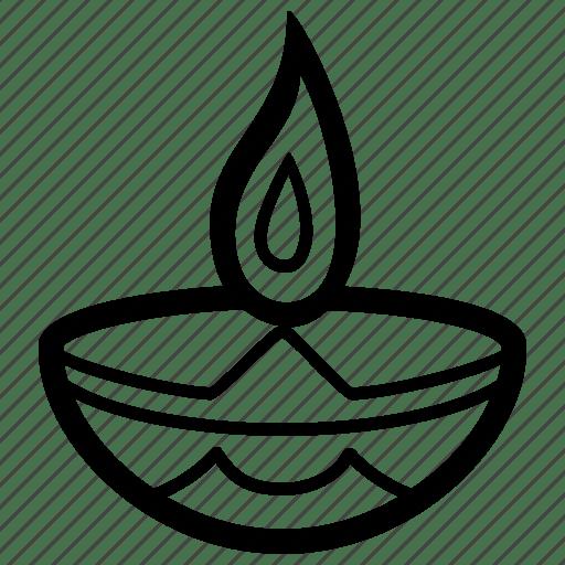 Candle, diwali, flame, lamp, lantern, light, oil icon