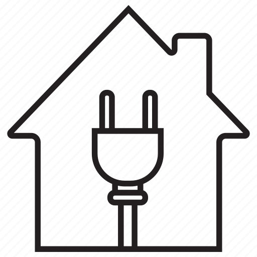 Cable, electricity, homeplug, house, plug, power, wire icon