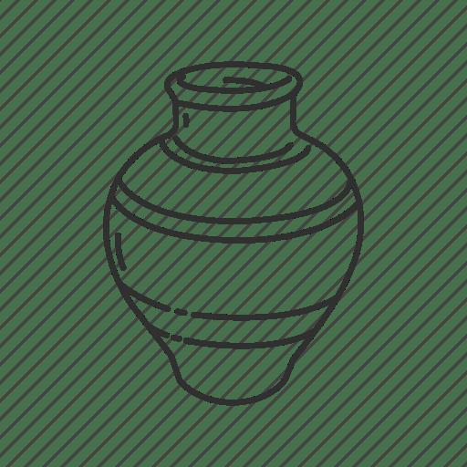 Clay jar, container, honey jar, jar, kitchen, pot, vase icon