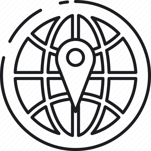 Global, international, local, location, marker, pin