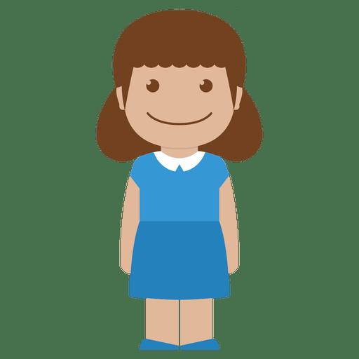 Avatar Blue Child Female Girl Kid Person Icon