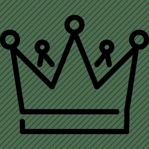Crown, kingdom, medieval, reign, throne icon