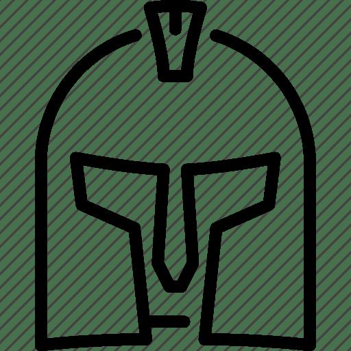 Gladiator, helmet, kingdom, knight, medieval, weapon icon