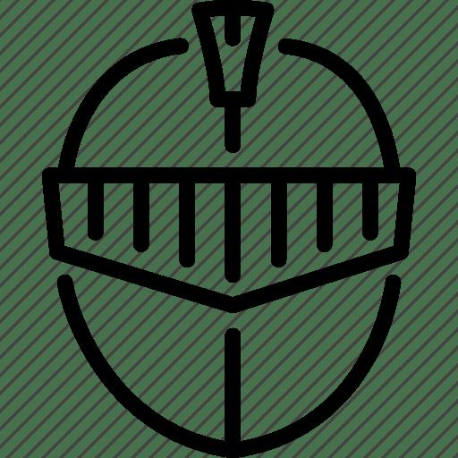 Helmet, kingdom, knight, medieval, weapon icon
