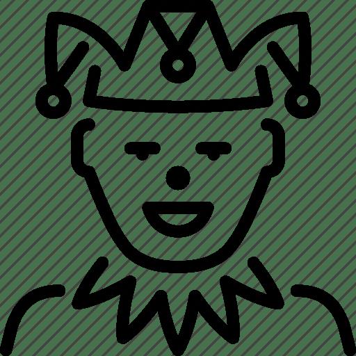 Funny, jester, joke, joker, kingdom, medieval, royalty icon