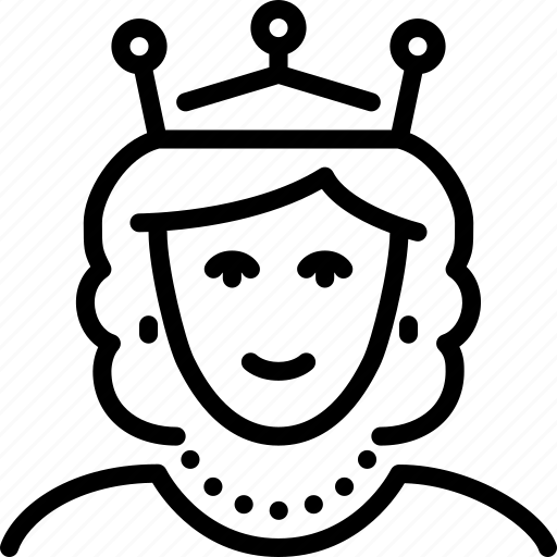 Kingdom, medieval, queen, reign, royalty, throne icon