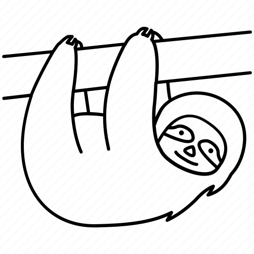Animal, arboreal, lazy, sloth, slow, strange, weird icon