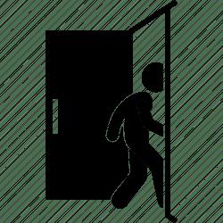 inside door outside going icon room open editor
