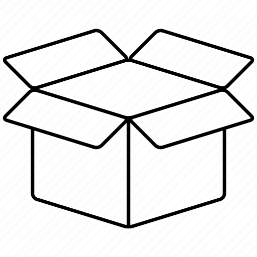 Box, container, cube, delivery, open, package icon