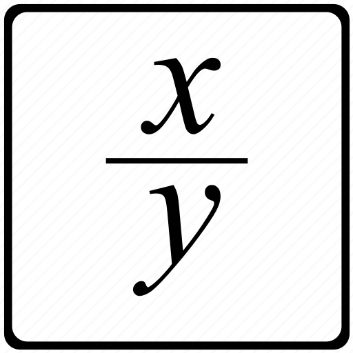 Fraction, function, math, mathematical icon