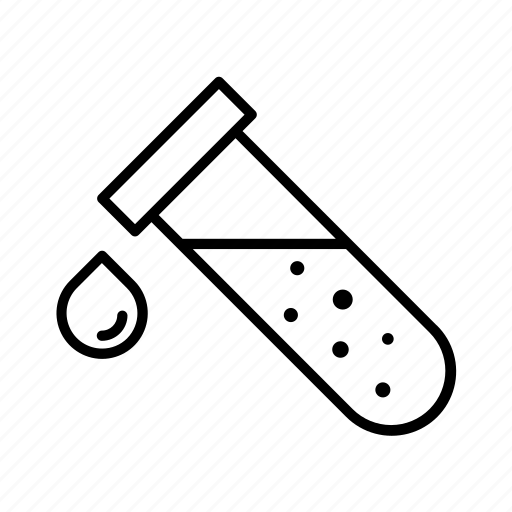 Blood, lab, sample, test, tube, urine icon