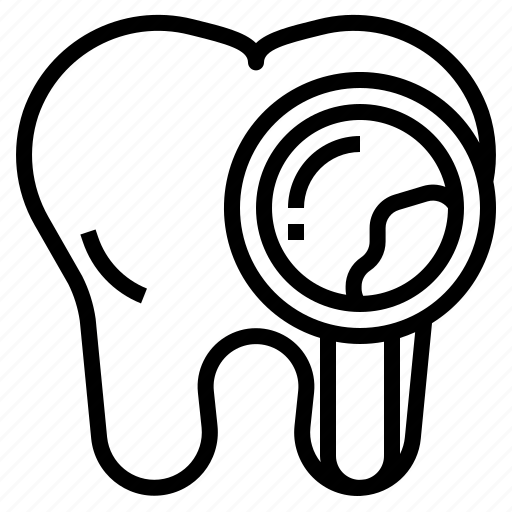 Checkup, dental, investigation, plaque, tooth icon