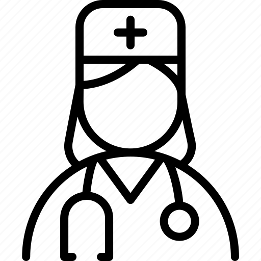 Assistant, doctor, female, healthcare, nurse, physician icon