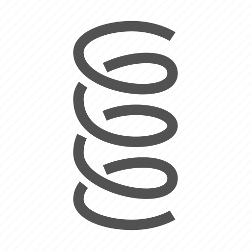 Coil, metal, spiral, spring, wire icon