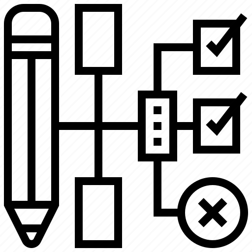 Checklist, diagram, logic, planning, strategy icon