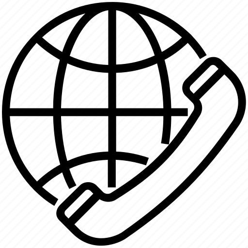 Call, global communication, globe, international call