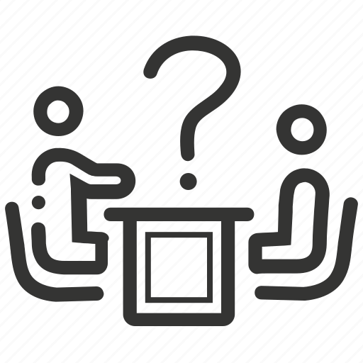 Answer, asking, conference, discussion, meeting, question icon