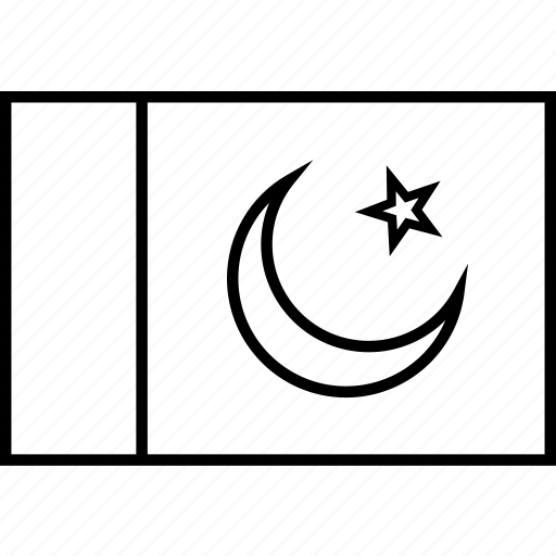 outline world flags by