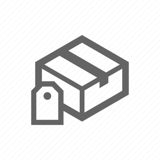 Delivery, order, package, parcel, tag icon