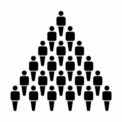 Group, hierarchy, management, mass, people, population