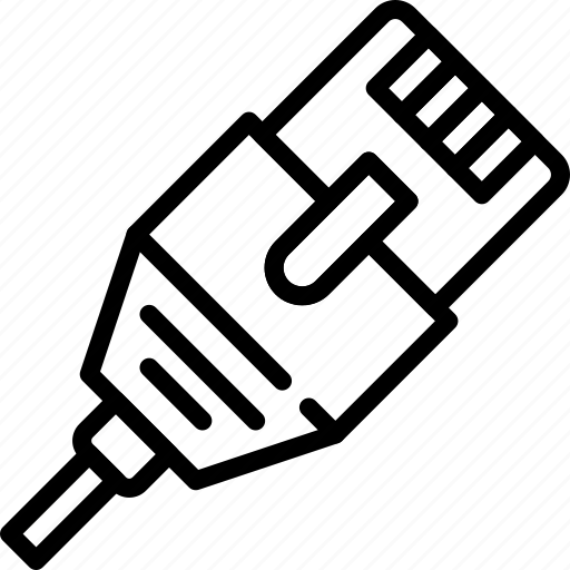 Cable, connection, ethernet, internet, network, web icon