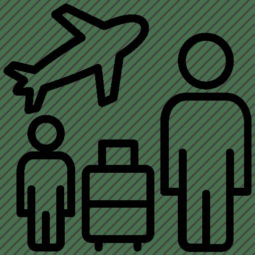 Business trip, journey, tourism, travel, trip icon