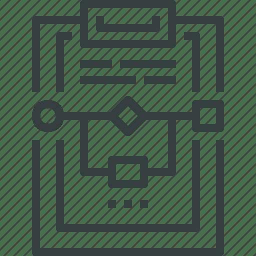 Chart, clipboard, diagram, flow, process, work, workflow icon