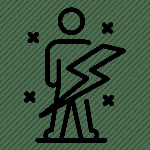 Thin, man, vector, lightning, yul911 icon