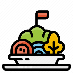 menu recommended vegetable salad food icon editor open