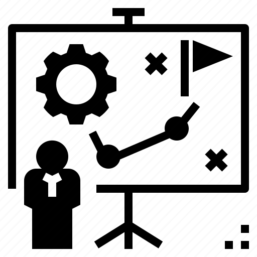 Planning, presentation, project, strategy, tactic icon