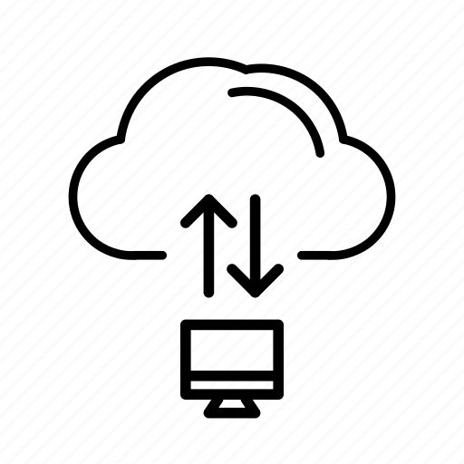 Cloud server, file operations, server, server management icon