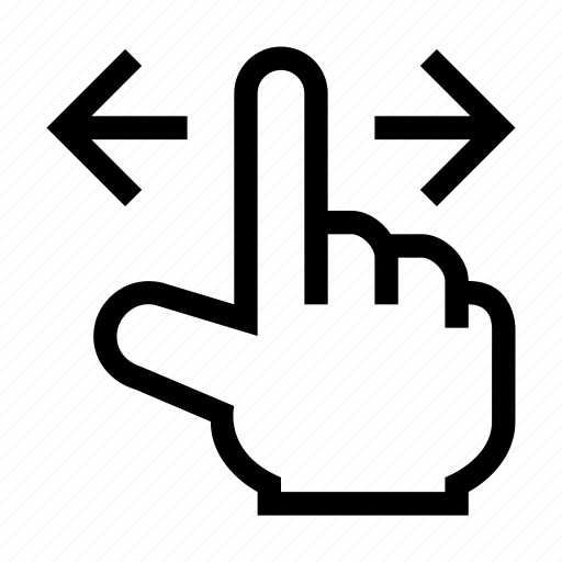 Finger, gesture, hand, left, right, slide, touch icon