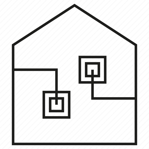 Automation, circuit, home, house, smart home icon