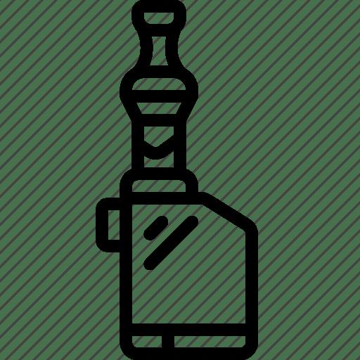 Box, mod, outline, smoking, vape, vaping icon