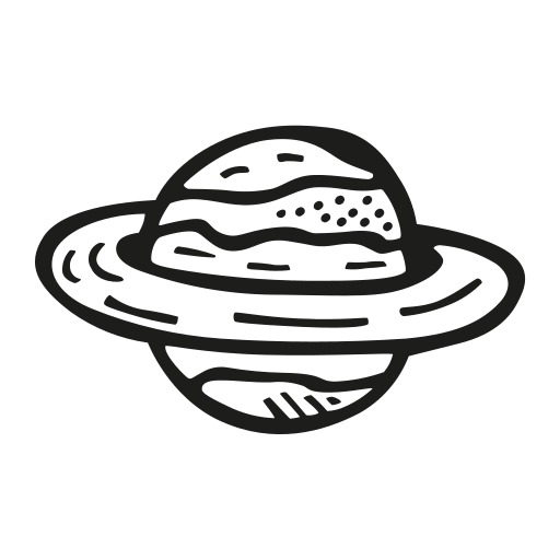 Astronomy, planet, rings, saturn, space icon