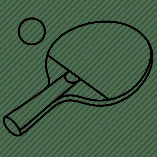 Ball, equipment, game, racket, sports, table, tennis icon