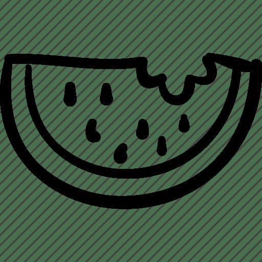 Eat, food, fresh, fruit, healthy, slice, watermelon icon