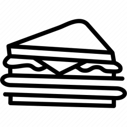 sandwich icon breakfast club bread food icons foods 512px