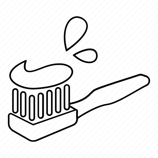 Brush, cleaning, paste, tooth, toothbrush, toothpaste icon